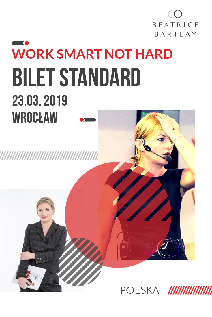 Bilet Standard 23.03 Work Smart Not Hard Wrocław