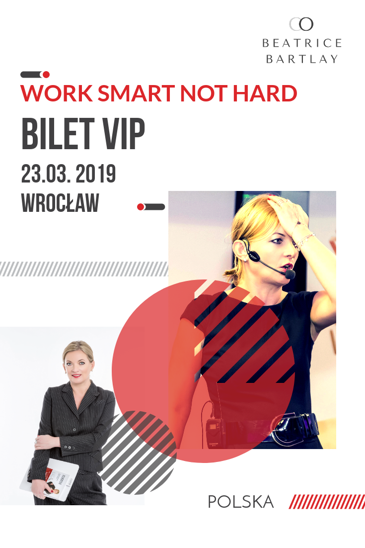 Bilet VIP 23.03 Work Smart Not Hard Wrocław